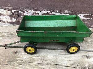 VTG c.1950's JOHN DEERE Flare Box Wagon Eska Tru Scale Farm Toy