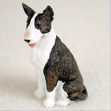 Bull Terrier Brindle Dog Tiny One Miniature Small Hand Painted Figurine