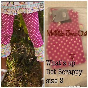Matilda Jane What's Up Dot Scrappy Size 2 New!