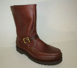 Double Moccasin Bottom Zephyr Russell Moccassin Boots Marked Sz 9 E MayRun Large
