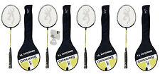 4 x BROWNING nano-lite Badminton Racchette con copertina + 3 NAVETTE RRP £ 159.99