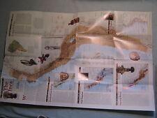THE INCA EMPIRE WALL MAP MACHU PICCHU PERU National Geographic May 2002 MINT