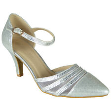 Womens Diamante Sandals Heels Ladies Wedding Bridesmaid Bridal Party Shoes Sizes