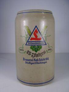 Seltener Bierkrug Schwabenbräu 75 Jahre 3L
