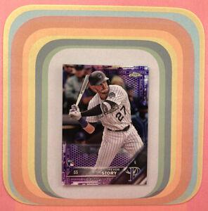 TREVOR STORY #45 RC Purple Parallel #/250 2016 Topps Chrome Rockies Yankees