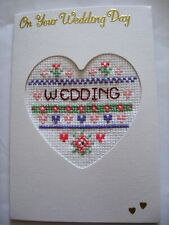 CROSS Stitch CARD per qualsiasi MATRIMONIO ANNIVERSARIO-KIT COMPLETO su 16 AIDA