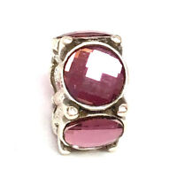 Authentic Brighton Roundabout Bead, Pink Stones, J9643A, New
