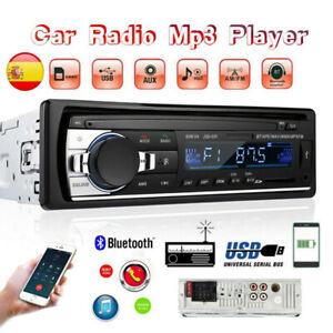 Autoradio 1DIN MP3 radio de coche manos libres car USB TF AUX Cuadro Bluetooth