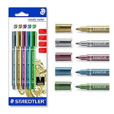 STAEDTLER 8323 Metallic marker 5 metallic colors: silver, gold, red, blue, green