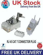 RJ45 Cable de red ca7 de crimpado Plug Conector Con Metal Blindado