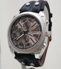 Genuine POLICE watch Mens Day & Date & Months Brown Leather Strap RRP£250 (PO61