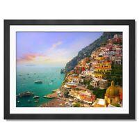 A3  - Positano Amalfi Italy Travel Framed Prints 42X29.7cm #3579