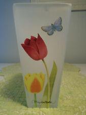Marjolein Bastin Frosted Glass Vase/ Nature's Journey