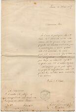 Lettera Autografo di Michele Stefano de Rossi Geofisico Museo Rocca di Papa 1889