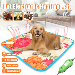 Electric Pet Heating Mat Blanket Heated Cat Dog Heater Pad Bed Winter  ! ~