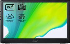 "Acer PM161Qbu 15.6"" Full HD IPS LED Portable USB Gen 3.2 TYPE-C Computer Monitor"