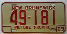 New Brunswick 1969 License Plate NICE QUALITY # 49-181