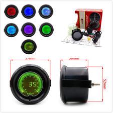 "Universal 2"" 52mm Car Digital LED Turbo Boost 7 Colors Meter Readout Car Truck"