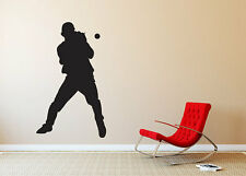 """Baseball Player Catching Silhouette Wall Vinyl Graphic Decal Bedroom 22"""" Tall"""