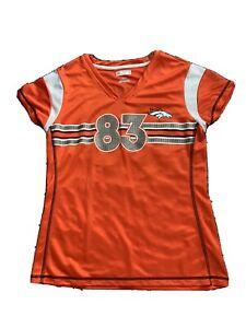 Denver Broncos Wes Welker 83 Womens Jersey Gold Accent Short Sleeve Size Medium