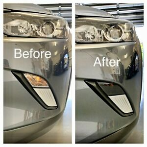 Fits Mazda Cx3 - Front Indicator Black Out Die Cut Laminate Tint Kit Dark Black