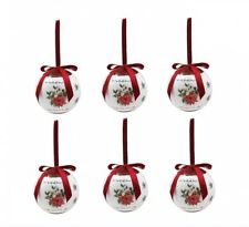 Deck The Halls Baubles Set of 6 Christmas Tree Bauble Decorations - Gift Boxed