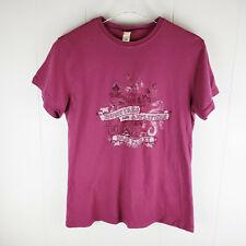 BRAD PAISLEY Bonfires and Amplifiers 2007 Tour Graphic Womens Pink T-Shirt Sz XL
