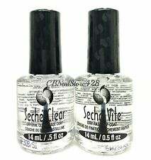 BIG HOT FINAL SALE!!! Seche Vite Fast Dry Top Coat+Crystal Clear Base .5 oz x 2
