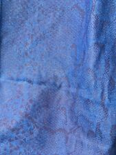 Heavy weight denim fabric with snakeskin effect