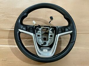 VAUXHALL ASTRA J MK6 GENUINE LEATHER STEERING WHEEL WITH BUTTONS 13351022