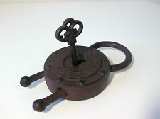 Very Large Metal Padlock & Key For Boxes & Chests Fantastic Prop or Shop Display