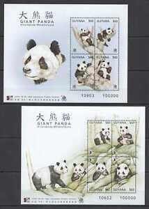 QA1222 GUYANA FAUNA WILD ANIMALS GIANT PANDA !!! 2KB MNH