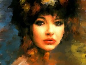 Kate Bush portrait painting in acrylic on canvas by Brian Tones