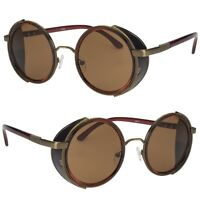 Vintage Retro Mirror Round SUN Glasses Goggles Steampunk Punk Sunglasses Light B