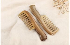 Wooden Natural Sandalwood Handmade Wide Tooth Comb Massage Comb Beauty Hair Care