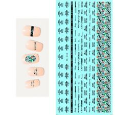 Christmas Nail Art Water Decals Transfers Stickers Merry Christmas Lace (YE453)