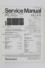 TECHNICS SA-LS10 CD Stereo System Original Service-Manual/Schaltplan 74