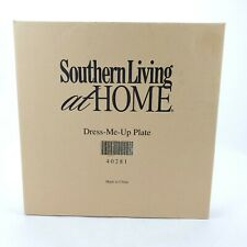 """Southern Living at Home Dress Me Up Plate White 12"""" New in Box 40281 Blue Ribbon"""