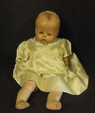 Antique H O Composition Sleepy Eyed Cloth Body Doll W/ Crying Box Needs Love