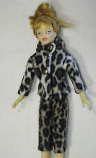 Vintage Fashion Doll Clothes Handmade Clone Leopard Pants and Hoodie Coat Set