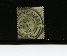 Great Britain #122 (GB751) Queen Victoria, Hi Value 1 shilling green,U,CV$72.50