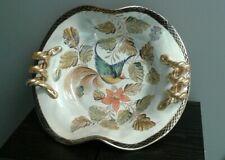 PLAT en Céramique H. BEQUET Quaregnon Belgium 35cm/28cm-decor oiseau