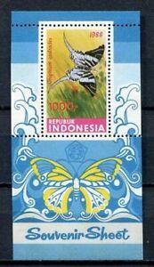 38363) INDONESIA 1988 MNH** Butterflies s/s