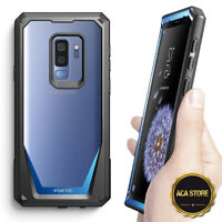 For Samsung Galaxy S9 Plus Hard Back Armor Case,Hybrid Shockproof Cover Blue
