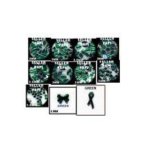 1100 Rhinestones GREEN  Mixed Shapes lots Jewels Crafts