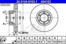 2x Bremsscheibe für Bremsanlage Vorderachse ATE 24.0124-0103.1