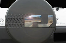 "Custom Badge for Spare Tire Cover ""FJ"" 2007-14 Toyota FJ Cruiser Mirrored Steel"