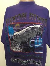 NWF YUKON RIVER WILDLIFE RETREAT WOLF GRAPHIC T-SHIRT ~ Purple ~ XL