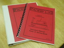 Factory Cat Industrial Sweeper Model 48 Parts/Operation/Service  Manuals 1994-95