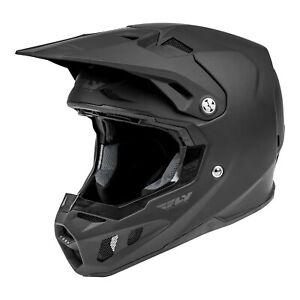 Fly Racing Formula Carbon Motocross Offroad Race Helmet Solid Matte Black Adults